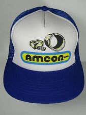 Vintage 1980s AMCOR INC Advertising Retro SNAPBACK TRUCKER HAT CAP Young An