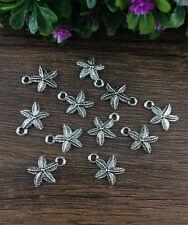 Wholesale 20pcs Tibet silver Starfish Charm Pendant beaded Jewelry Findings