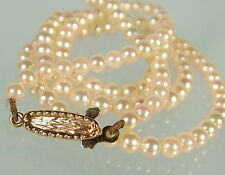 Beautiful sweet 16 matched Akoya Pearl Princess necklace   solid 9ct gold clasp
