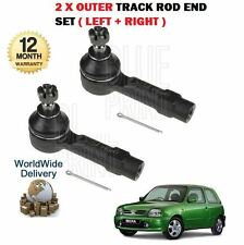 FOR NISSAN MICRA K11 1993-2002 NEW 2 X OUTER TRACK ROD END SET