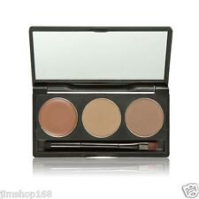 Makeup 3 Colors Eyebrow Powder Concealer Palette With Mirror Eyebrow Brush HOT