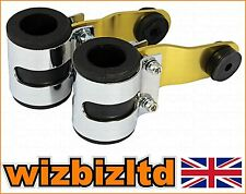 DELUX 31mm Gold PAIR Street Fighter Fork Headlight BRACKETS (31mm) HLBDGD