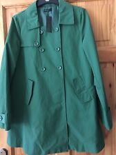 Bennetton GREEN Coat Size 14 NUOVO