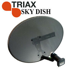 Sky Digital Zone 2 MK4  TRIAX Satellite Dish QUAD LNB - For Freesat, Sky, Astra