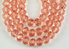 72pcs Chinese Crystal Pink Faceted Rondelle Loose Beads Jewelry Making Spacer