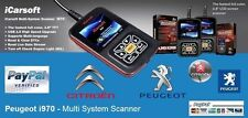 BEST  iCarsoft i970 Peugeot Fault Code Scanner / Reset / Diagnostic / Airbag