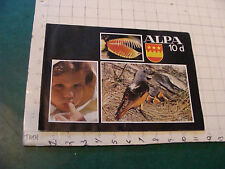 Orig Vintage Camera related: 1970 ALPA 10d -- 12pgs, light wear only