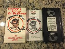 THE MAURICE SENDAK LIBRARY CHILDREN'S CIRCLE VHS 1989 WHERE THE WILD THINGS ARE!