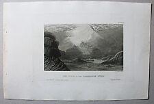 Berg Horeb / Sinai / Ägypten -  Stich - Stahlstich um 1855