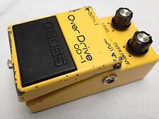 VINTAGE BOSS OD-1 ORIGINAL OVERDRIVE GUITAR EFFECTS PEDAL RARE RAYTHEON CHIP