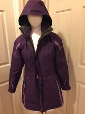 COLUMBIA INTERCHANGE 3 in 1 Waterproof Parka, Fleece Jacket  Women's SZ S Purple