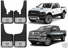 12x23 Front + Rear Gatorback 2009-2016 Dodge Ram Logo Mud Flaps New Free Ship