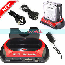"""NEW! All in 1 2.5"""" 3.5""""IDE SATA HDD Hard Drive Disk Clone Holder Dock Station MX"""