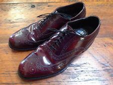 Vtg Florsheim Imperial Burgundy Leather Dapper Wing Tip Oxfords Mens Shoes 7D 40