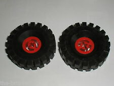 Roues LEGO vintage tyre 17x43 ref 3634 + red Wheel 3482 / set 392 Formula 1