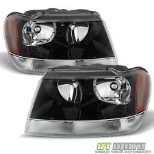 1999-2004 Jeep Grand Cherokee Replacement Headlights Headlamps Left+Right 99-04
