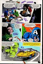 1981 Gene Colan Captain America Marvel Comics original color guide art page 31