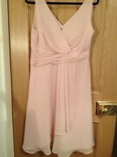 Wedding collection by BHS Pink chiffon floaty dress size uk 16 Vgc