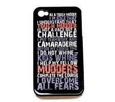 Tough Mudder Pledge Cell Smart iPhone 4/4S Case Picture Protective Skin Cover Ap