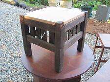 Period Arts & Crafts Mission foot stool Quarter Sawn oak maker unknown