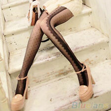 Chic Perfect Side Lace Ruffles Eyelashes Style Dots Tights Stockings Pantyhose