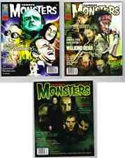 FAMOUS MONSTERS MOVIE MAG LOT #277,278,279 NM+ UNCIRCULATED EVIL WALKING DEAD