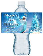 20 DISNEY FROZEN ELSA BIRTHDAY WATER BOTTLE LABELS waterproof ink