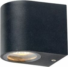3W LED 3000K IP54 Down Curved Dark Grey Wall Light for Outdoor Use
