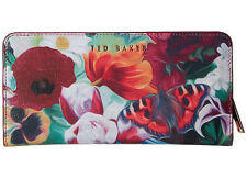 TED BAKER-AGNETTA FLORAL SWIRL XHATCH MATINEE  LEATHER  WALLET -GREAT PIECE