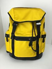COACH F71884 Trek Pack Backpack Travel Overnight Bag Men's Nylon Banana NWT