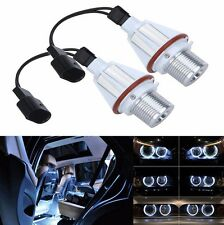 2X 7W White ANGEL EYES Cree LED HALO Ring Marker Lights For BMW E39 E53 E60 E61