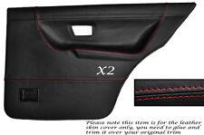 RED STITCH 2X REAR DOOR CARD SKIN COVERS FITS VW GOLF MK2 II JETTA 83-92 5DR