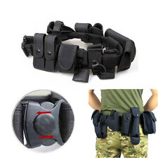 Tactical Police Security Guard Duty Utility Kit Belt 9 Pouches System Holster