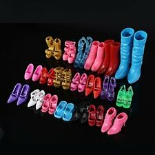 12Pairs Of Fashion Doll Shoes Boots Barbie Doll Play House Decor Mix Size
