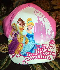 """Disney Princess Hat for Little Girl """"True Beauty Lies Within"""" Size is Adjustable"""