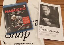 SIGNED BY PLACIDO DOMINGO Nabucco Royal Opera House Blu-ray Disc, 2015