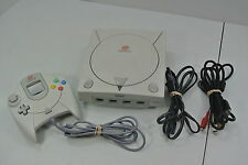 Sega Dreamcast White System Console + Controller Tested & Works!!