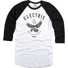 Electric Captain 3/4 Sleeve Tee T-Shirt (L) White