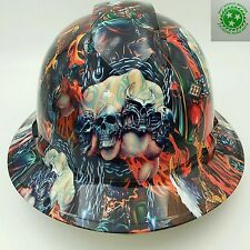 New Custom PYRAMEX(Full Brim) Hard Hat W/RATCHET SUSP WAY OF THE FIST FULL COLOR