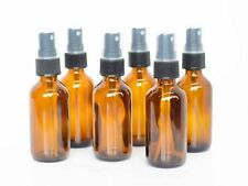 NEW My Oil Gear 2oz Amber Glass Bottle with Pump for Essential Oils (6 Pack)