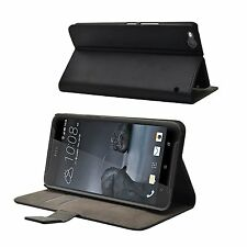 Wallet BLACK Leather Flip Case Cover Pouch Saver For HTC One X9