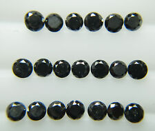 0.72cts 20pc Natural Loose Fancy Black Diamond Lot 1.9-2.0mm Round Good Quality