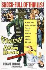 Creature With The Atom Brain Poster 01 A3 Box Canvas Print