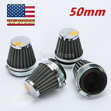 4X Universal Motorcycle 50mm Air Filter Pod For Honda Kawasaki Suzuki Yamaha US