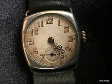 RARE VINTAGE ART DECO 1920's  A. LECOULTRE STERLING SILVER 925 Mens Large Watch