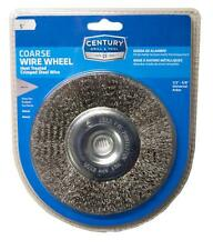 """Century Drill and Tool 5"""" Coarse Bench Grinder Wire Wheel 76851"""