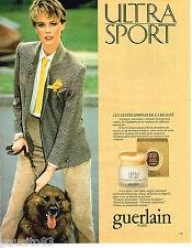 PUBLICITE ADVERTISING 055  1983  GUERLAIN  cosmétiques ULTRA SPORT