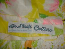 WOW! 70's LILLY PULITZER Le Shack Cestaro FLORAL EMBROIDERED SKIRT  Waist 32""