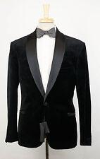 New. VERSACE MAINLINE COUTURE Black Cotton Tuxedo Sport Coat Size 48/38 R $2295