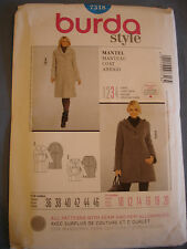 Burda Style 7318 sewing pattern coat sizes european 36 - 46 (Maternity)